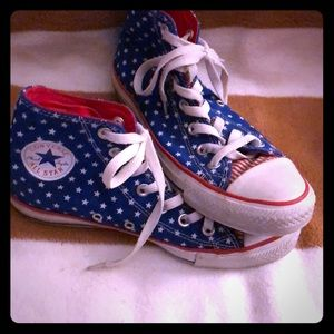 Converse Chucks Sneakers  Blue Stars and Stripe